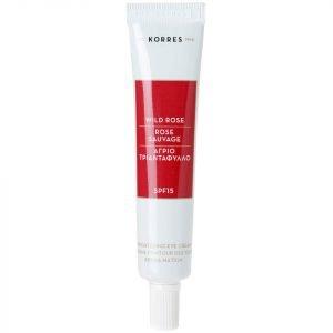 Korres Natural Wild Rose Brightening Eye Cream 15 Ml