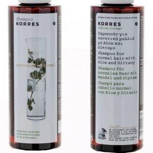 Korres Shampoo Aloe & Dittany Normal Hair 40 Ml