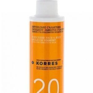 Korres Suncare Spray Youghurt Spf 20 150 Ml Aurinkovoide