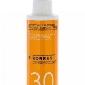 Korres Suncare Spray Youghurt Spf 30 150 Ml Aurinkovoide