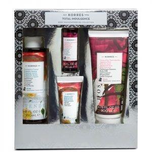 Korres Total Indulgence Bergamot Jasmine And Japanese Rose Body Milk And Shower Gel Collection