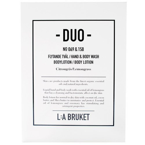 L:A Bruket Citrongräs Soap + Bodylotion Duo