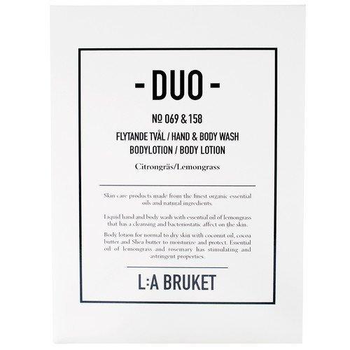 L:A Bruket Citrongräs Soap + Bodylotion Duo