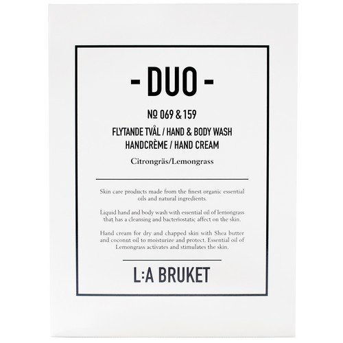 L:A Bruket Citrongräs Soap + Hand Cream Duo