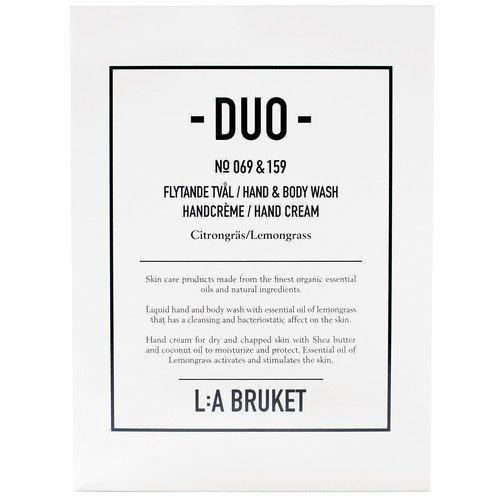 L:A Bruket Citrongräs Soap + Hand Cream Duo