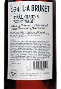 L:A Bruket Nr 94. Nestesaippua Salvia/Rosmariini/Laventeli