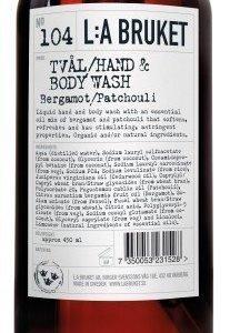 L:A Bruket Nr.104 Nestesaippua Bergamotti/Patsuli