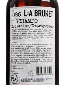L:A Bruket Nr.86 Shampoo Korianteri/Mustapippuri