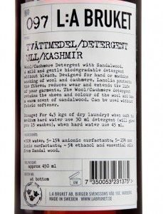 L:A Bruket Nr.97 Pesuaine Villa/Kashmir 450 ml