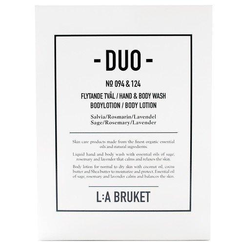 L:A Bruket Salvia/Rosmarin/Lavendel Soap + Bodylotion Duo