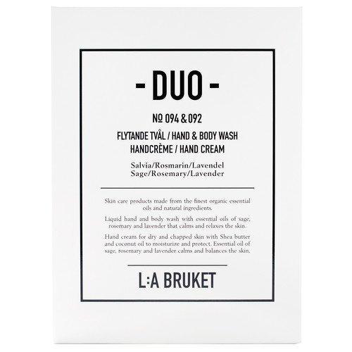 L:A Bruket Salvia/Rosmarin/Lavendel Soap + Hand Cream Duo