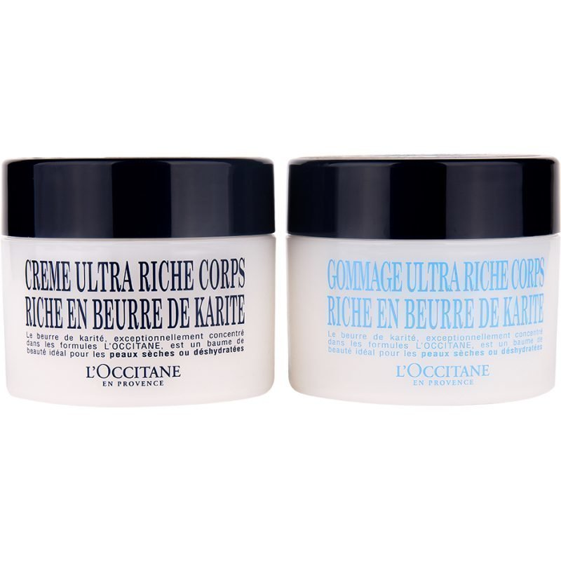 L'Occitane Shea Butter Duo Body Cream 200ml Body Scrub 200ml