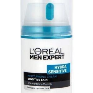 L'Oréal Men Expert Hydra Sensitive Suojaava Ja Rauhoittava Kosteusvoide Herkälle Iholle 50 ml