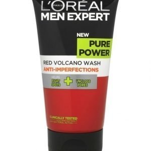 L'Oréal Men Expert Pure Power Volcano Red Wash Anti Spot Puhdistusgeeli 150 ml