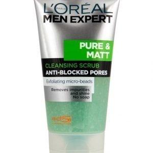 L'Oréal Paris Men Expert Pure & Matt Puhdistava Kuorintageeli Rasvoittuvalle Iholle 150 ml
