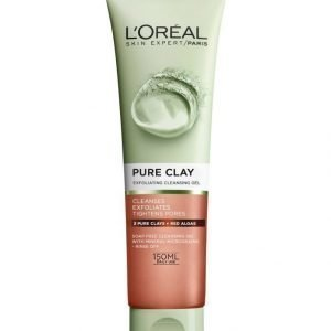 L'Oréal Paris Pure Clay Exfoliating Cleansing Gel Kuoriva Puhdistusgeeli 150 ml