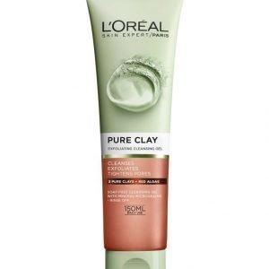 L'Oréal Paris Pure Clay Exfoliating Cleansing Gel Kuoriva Puhdistusgeeli 150 ml
