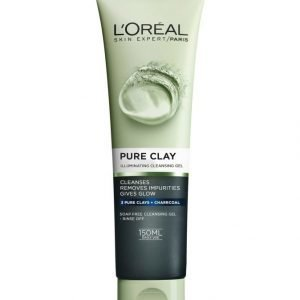 L'Oréal Paris Pure Clay Illuminating Cleansing Gel Heleyttävä Puhdistusgeeli 150 ml