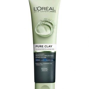 L'Oréal Paris Pure Clay Illuminating Cleansing Gel Heleyttävä Puhdistusgeeli 150 ml