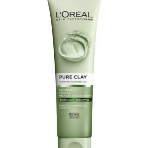 L'Oréal Paris Pure Clay Purifying Cleansing Gel Puhdistusgeeli 150 ml