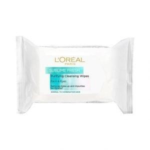 L'Oréal Paris Sublime Fresh Puhdistusliinat Normaalille Ja Sekaiholle 25 kpl