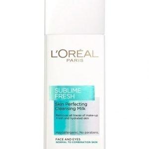L'Oréal Paris Sublime Fresh Skin Perfecting Puhdistusemulsio Normaalille Ja Sekaiholle 200 ml