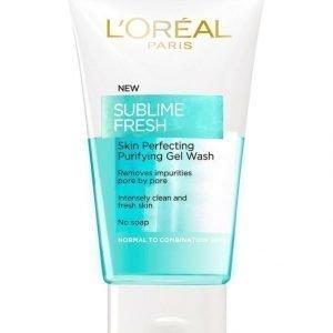 L'Oréal Paris Sublime Fresh Skin Perfecting Puhdistusgeeli Normaalille Ja Sekaiholle 200 ml