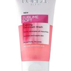 L'Oréal Paris Sublime Soft Calming Puhdistusgeeli Kuivalle Ja Herkälle Iholle 150 ml