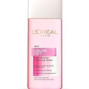 L'Oréal Paris Sublime Soft Pure Micellar Puhdistusvesi Kuivalle Ja Herkälle Iholle 200 ml