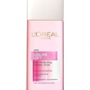L'Oréal Paris Sublime Soft Skin Perfecting Kasvovesi Kuivalle Ja Herkälle Iholle 200 ml