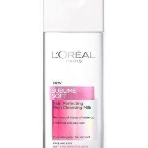 L'Oréal Paris Sublime Soft Skin Perfecting Puhdistusemulsio Kuivalle Ja Herkälle Iholle 200 ml