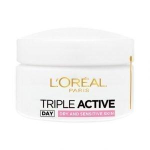 L'Oréal Paris Triple Active Päivävoide Kuivalle Ja Herkälle Iholle 50 ml