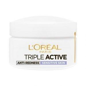 L'Oréal Paris Triple Active Sensitive Päivävoide Herkälle Iholle 50 ml