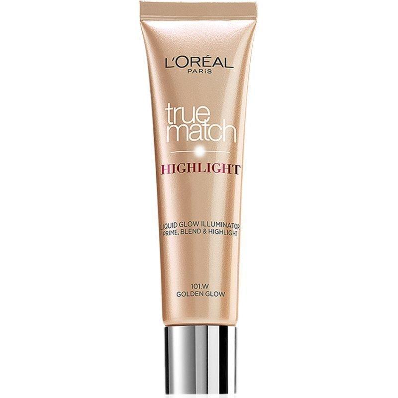 L'Oréal Paris True Match Highlight Liquid Glow Illuminator 101W Golden Glow 30ml