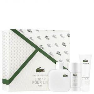 Lacoste L.12.12 Male Blanc Gift Set Eau De Toilette 100 Ml + Deodorant Stick 75 Ml + Sg 50 Ml