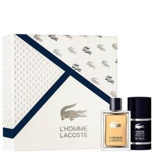 Lacoste L'homme Gift Set Eau De Toilette 50 Ml + Deodorant Stick 75 Ml