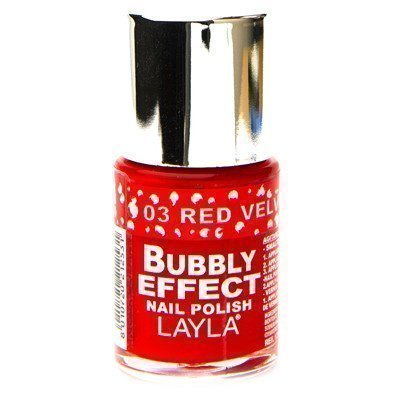 Layla Nail Polish Bubbly Effect 03 Red Velvet Cake