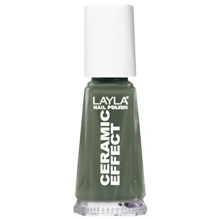 Layla Nail Polish Ceramic Effect 35 Khaki Green