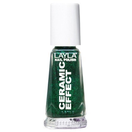Layla Nail Polish Ceramic Effect 54 Green Galaxy