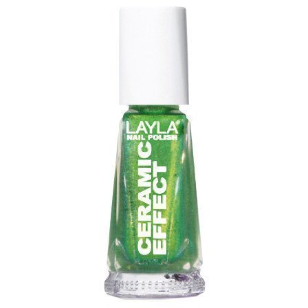 Layla Nail Polish Ceramic Effect 61 Golden Green