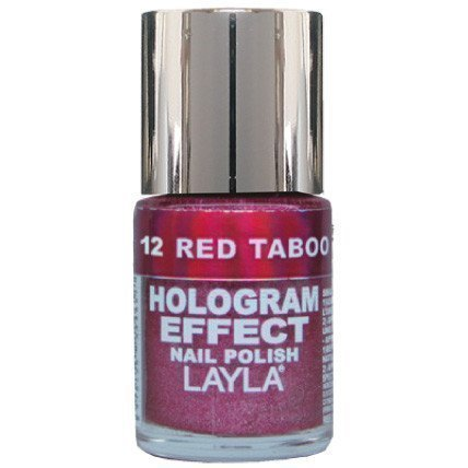 Layla Nail Polish Hologram Effect 12 Red Taboo