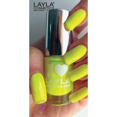 Layla Nail Polish I Love Layla 04 Yellow Fluo