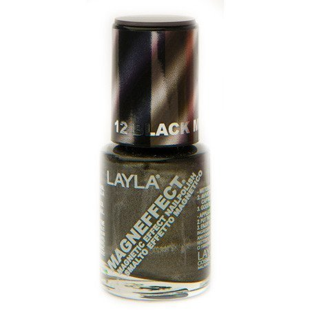 Layla Nail Polish Magn Effect 12 Black Metal