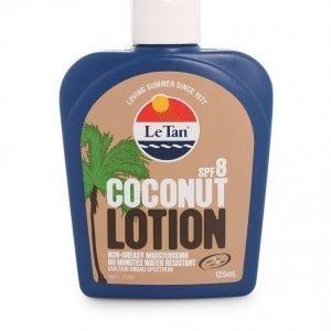 Le Tan Coconut Body Lotion SPF 8 Aurinkovoide Valkoinen
