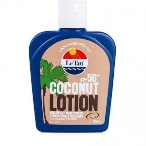 Le Tan Coconut Lotion Spf 50+ Aurinkosuoja Valkoinen