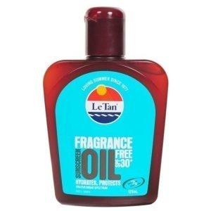 Le Tan Le Tan Fragrance Free Oil SPF 30 125ml Bottle