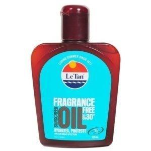 Le Tan Le Tan Fragrance Free Oil SPF 30 125ml Bottle
