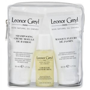 Leonor Greyl Luxury Travel Bag For Dry Hair 25 Ml X 50 Ml X 50 Ml