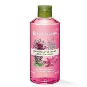 Les Plaisirs Nature Suihkugeeli Lotus flower Sage 400 ml