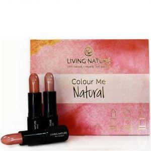 Living Nature Colour Me Natural Lipstick Set 3 Natural Shades